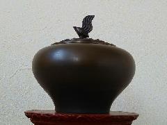 青銅 小鳥香炉