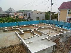北山田個人住宅基礎工事