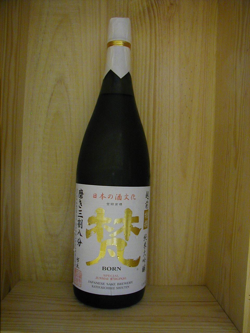 梵・特撰純米大吟醸 38%精米 1800ml