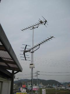 地デジアンテナ UHF+UHF+ブースター