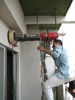 エアコン取付 コンクリー穴あけ工事