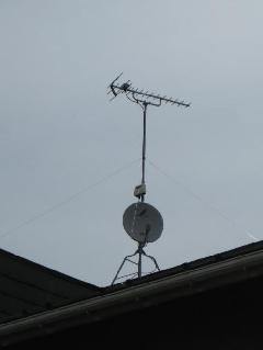 地デジアンテナ UHF+BS+ブースター