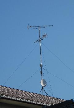 地デジアンテナUHF+UHF+BS+ブースター
