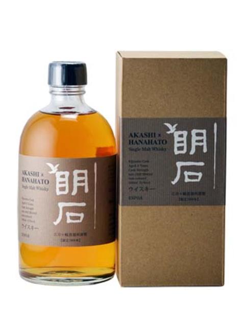 シングルモルト明石×華鳩5年 カスクストレングス(原酒)62% 貴醸酒樽フィニッシュ 500ml