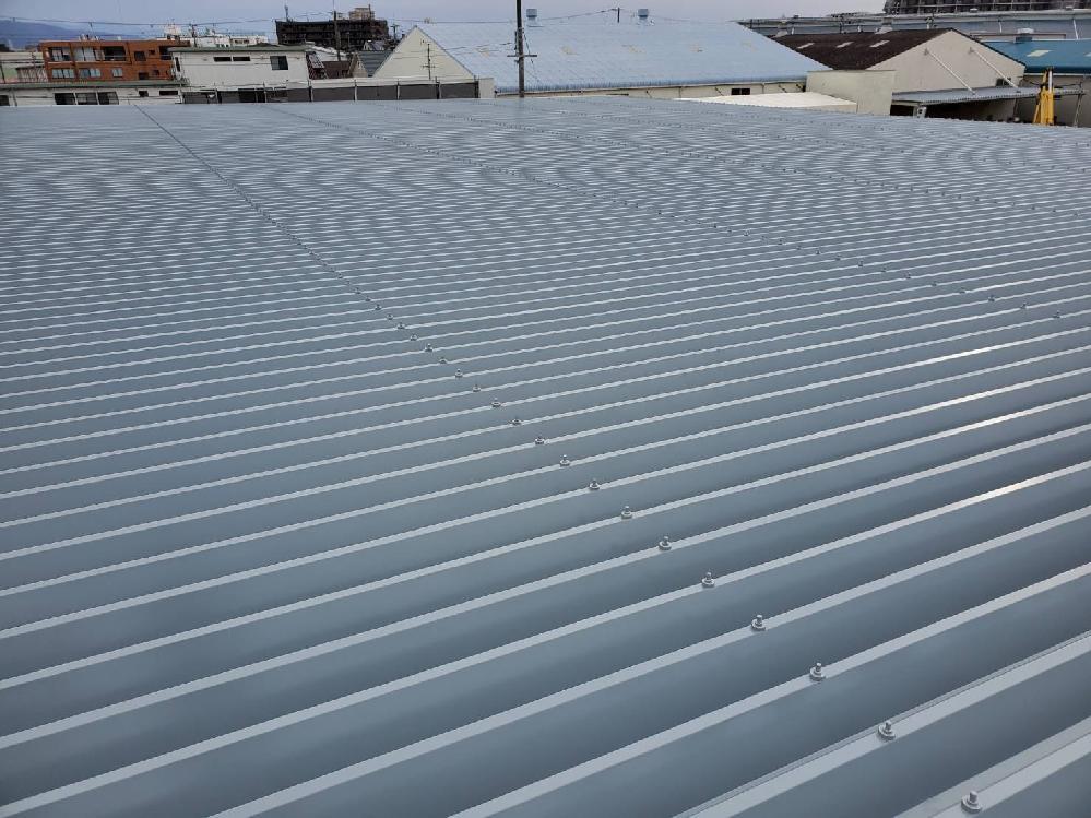折板屋根 塗装工事