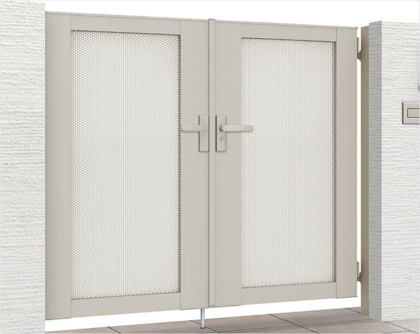 LIXIL ライシス門扉 12型 パンチング