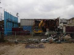 工場の解体工事