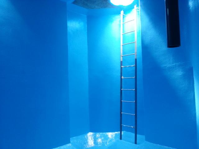 上水道施設ピット内部防水エポキシライニング仕上げ