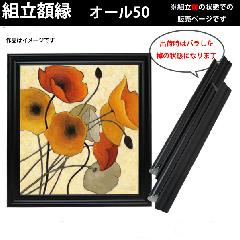 組立額縁【展示用額縁】S40サイズ(1000×1000mm) オール50 黒色