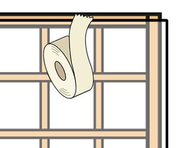 5.障子紙の障子位置を決める