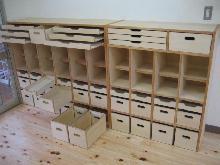 保育園の収納棚