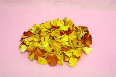 バラの乾燥花びら【黄色バラ】*量り売り