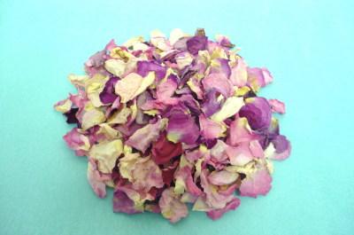 バラの乾燥花びら【ピンク色バラ】*量り売り