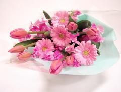 ピンクの花束(春らんまん)
