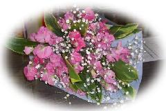 スイートピーの花束
