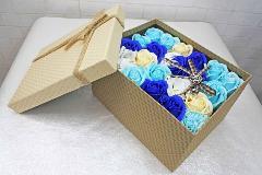 ソープフラワー フラワーボックス ブルーS-082