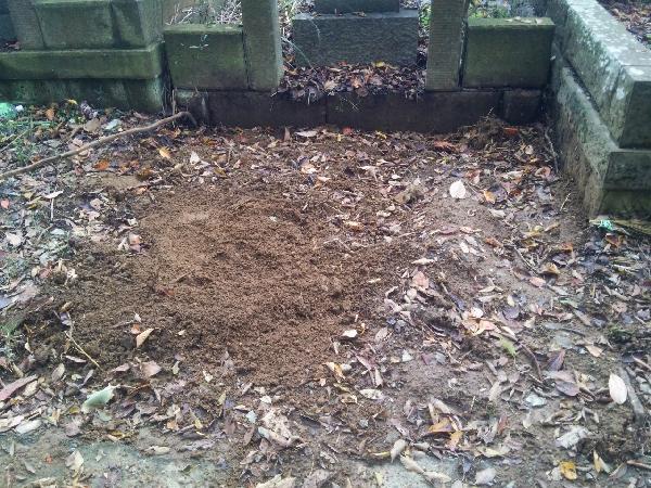 日野公園墓地での墓じまい、施工後