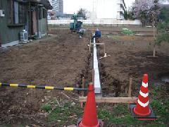地境ブロック布設 ブロック工事