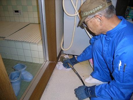 風呂場にしろあり 羽アリ出る前にシロアリ対策 ヤマト白蟻研究所