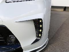 30プリウス後期 純正バンパー用LEDデイランプキット 塗装済み
