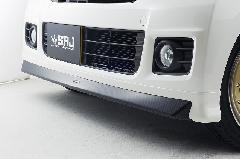 N−BOXカスタム フロントリップスポイラー カーボン調×純正色