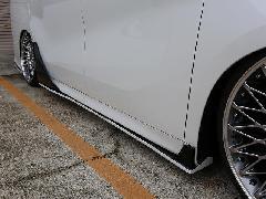 30アルファード Sグレード用 サイドステップ&リアドアパネルSET FRP未塗装