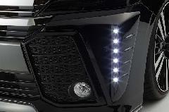 30ヴェルファイア前期 Zグレード純正バンパー用LEDデイランプキット FRP未塗装