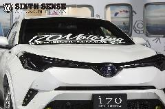 C-HR フロントエンブレムカバー ソリッドブラック