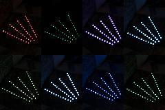 LEDフットイルミネーション カラーチェンジ 4Pセット