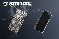 iphone7 iphone8 アイフォンケース キラキラストーン シルバー&ゴールド