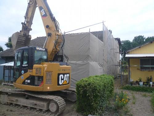 愛知県江南市で木造建て工場の解体工事
