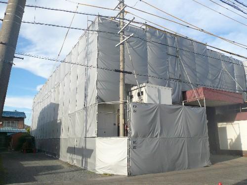愛知県稲沢市で鉄骨造工場の解体工事