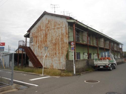 一宮市鉄骨造2階建アパート解体工事