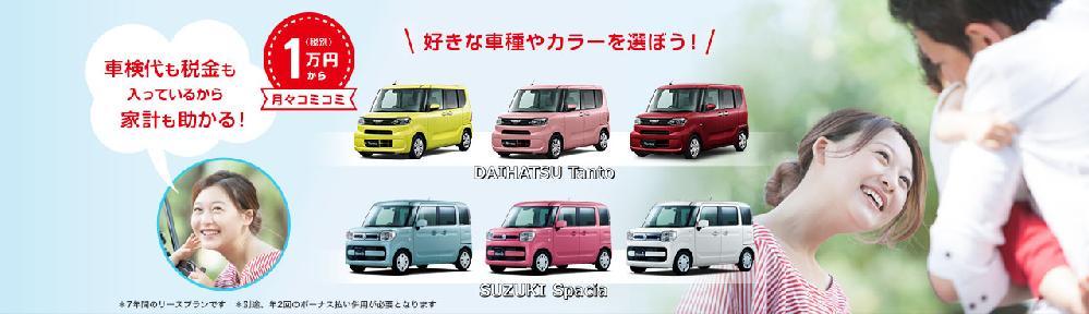 新車の軽自動車が月々1万円から!フラット7メイン