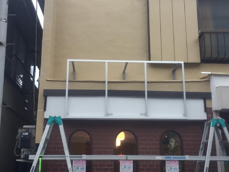 強風に耐えられる壁面看板