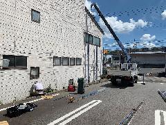 愛知県長久手市 既存自立看板の撤去