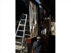 既存自立看板の改修工事 東京都 青山