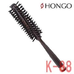ホンゴ 豚毛 ドライロールブラシ K-88 直径36mm 8行 スパイラル植毛 ブローブラシ HONGO