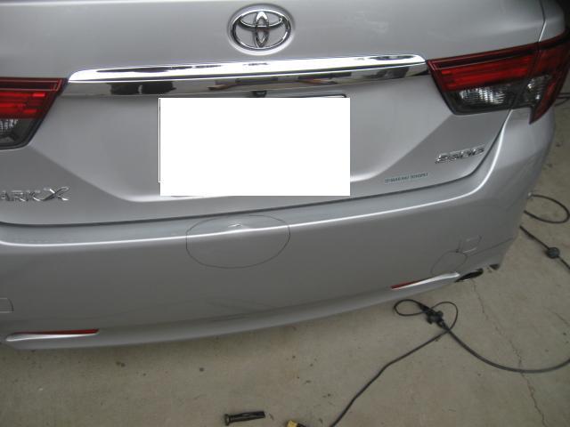 マークX リヤバンパー キズ修理 板金 塗装