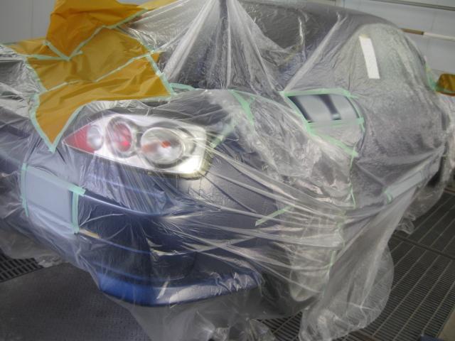 S15 リヤバンパーのキズ修理