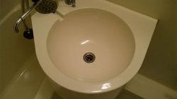 研磨技術で再生された洗面ボール