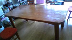 テーブル再塗装前