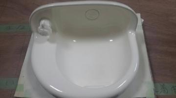 陶器洗面ボウルの再塗装