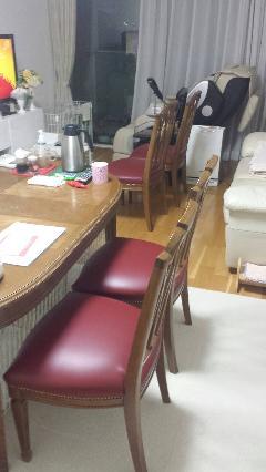 椅子座面張替 東京都板橋区(家具修理)