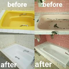 千葉県某ホテル 浴槽再生塗装