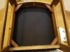 東京都江東区 椅子座面裏生地張替え施工