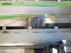 東京都世田谷区 インターホンアルミ部分補修塗装施工