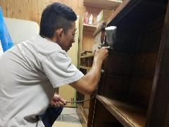 東京都立川市 家具消臭&つや増し施工