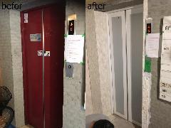 東京都豊島区 エレベーターシート施工