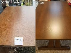 東京都杉並区 ダイニングテーブル再塗装施工